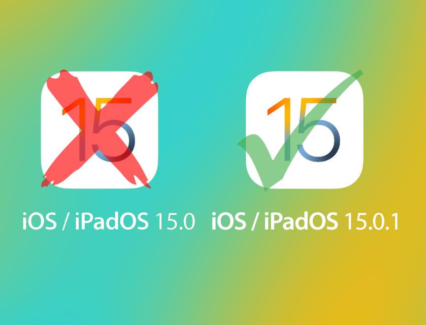 iOS 15 no 15.0.1 si